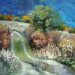 «Горные ухабы», холст, масло, 43х33см., 2020г., урочище Маралсай