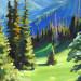 «Утро в горах, холст, масло, 35х43см., 2020г. (горы Заилийского Алатау)