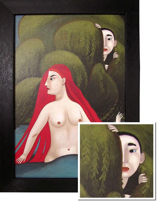 Ива. Печать на холсте, 35х24см